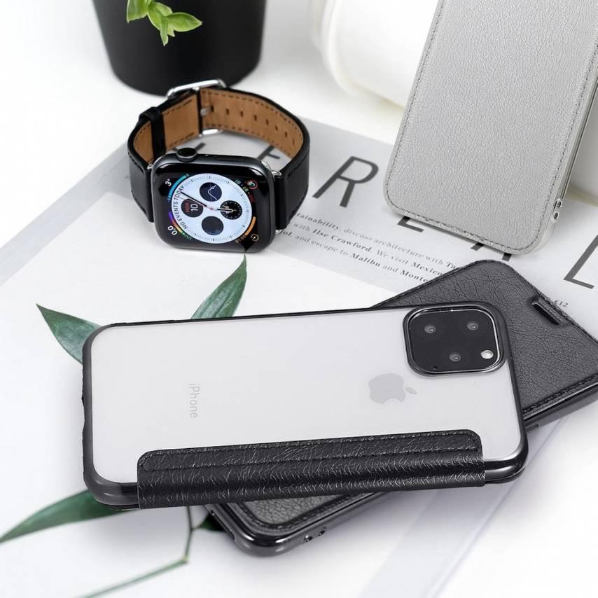Coque Etui Electro Book pour iPhone 7 / 8 / SE 2020 Noir