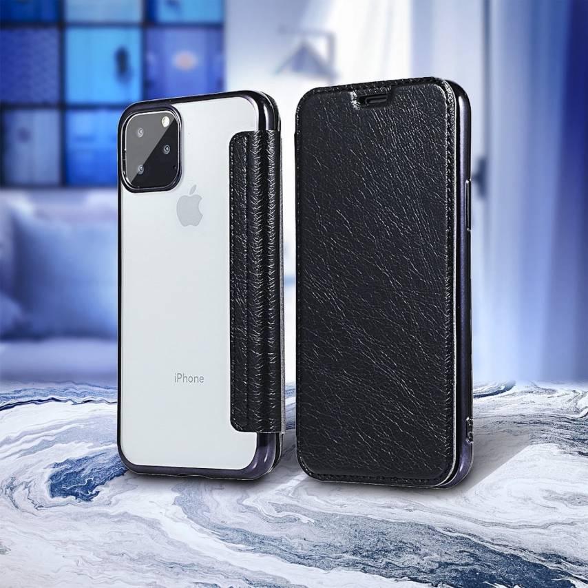Coque Etui Electro Book pour Samsung A21S Noir