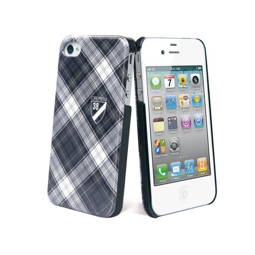 Zoom sur Coque Crémieux 38® Fashion Back Noire pour iPhone 4S/4
