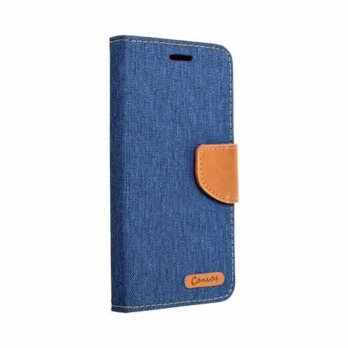 Coque Etui Canvas Book pour Samsung Galaxy A8 2018 blue