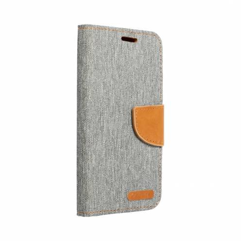 Coque Etui Canvas Book pour Huawei Mate 20 Lite Gris