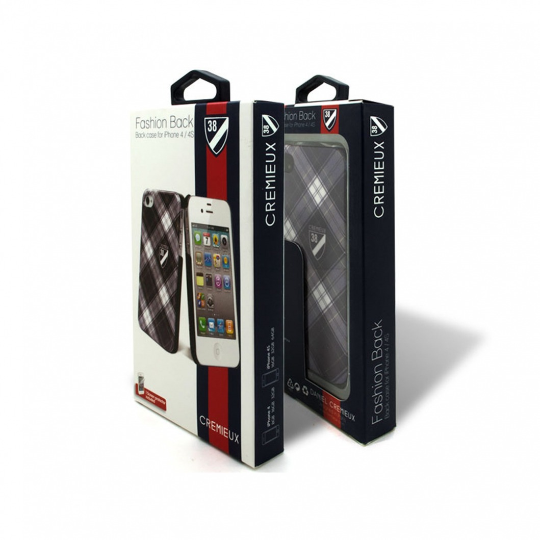Coque Crémieux 38® Fashion Back Noire pour iPhone 4S/4