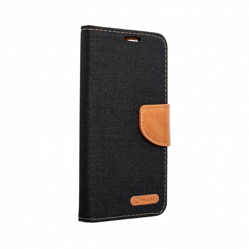Coque Etui Canvas Book pour Samsung A21s Noir