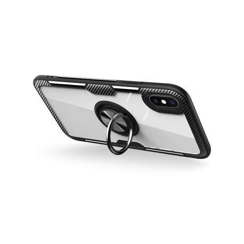 Coque CARBON CLEAR RING pour iPhone 7 / 8 / SE 2020 Noir