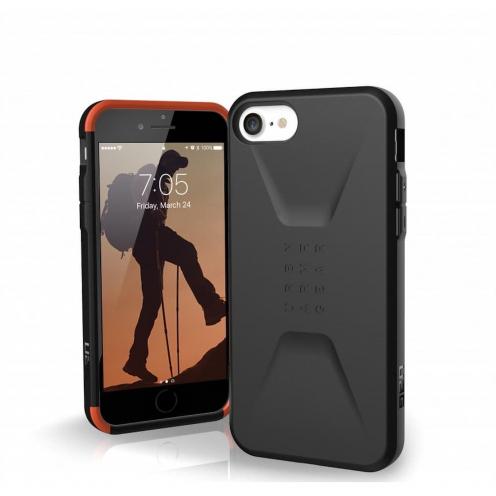 ( UAG ) Urban Armor Gear Civilian pour iPhone 7 / 8 / SE 2020 Noir