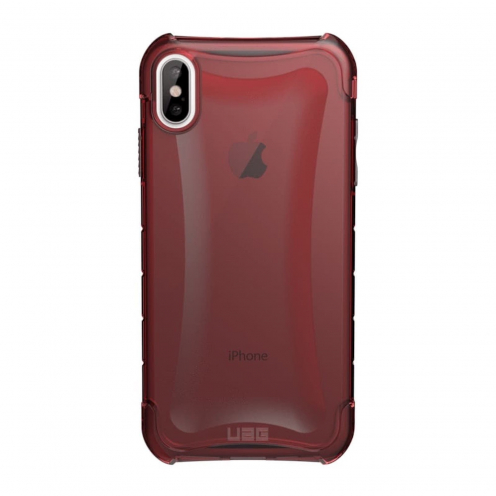 ( UAG ) Urban Armor Gear Plyo pour iPhone Xs Max Rouge transparent