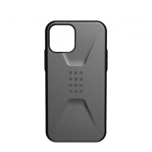 Coque ( UAG ) Urban Armor Gear Civilian pour iPhone 12 / 12 PRO Argent