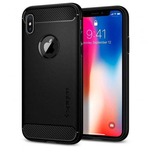 Coque SPIGEN Rugged Armor SAMSUNG S9 PLUS matte Noir