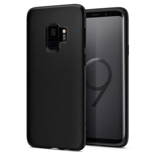 Coque SPIGEN Liquid Crystal Samsung S9 matte Noir
