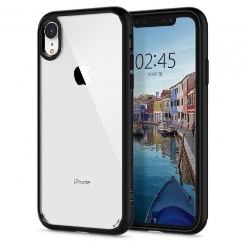 Coque SPIGEN Ultra Hybrid pour Iphone XR matte Noir