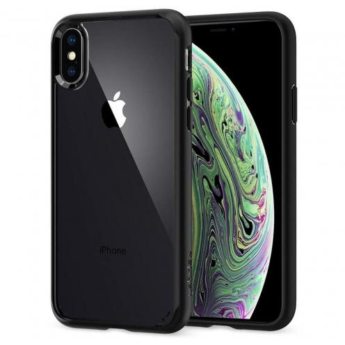 Coque SPIGEN Ultra Hybrid pour Iphone XS matte Noir