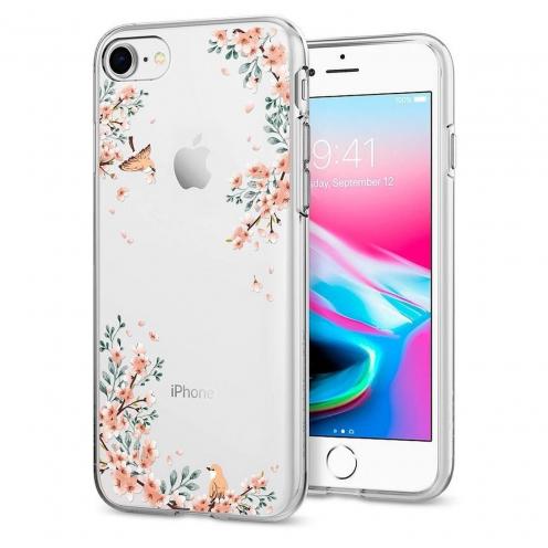 Coque SPIGEN Liquid Crystal pour Iphone 7 / 8 Blossom Nature