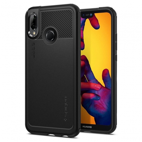 Coque SPIGEN Marked Armor HUAWEI P20 LITE Noir