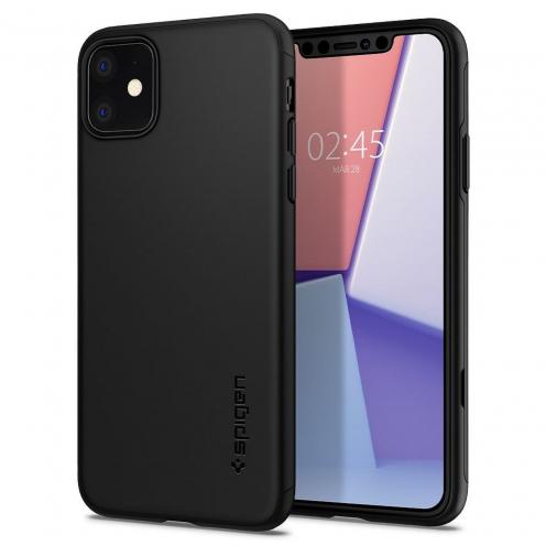 Coque SPIGEN Thin Fit Classic Iphone 11 ( 6.1 ) Noir