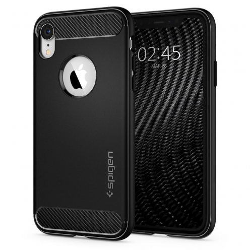 Coque SPIGEN Rugged Armor pour Iphone XR matte Noir