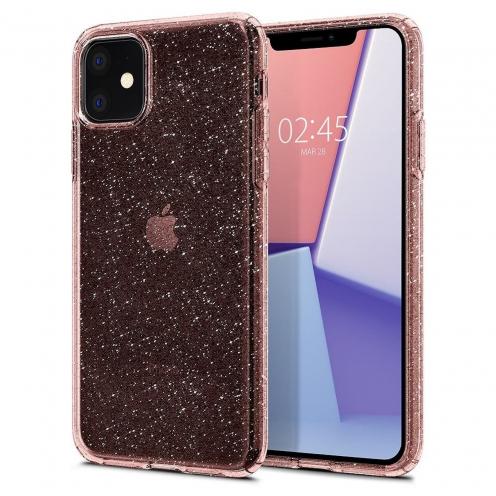 Coque SPIGEN Liquid Crystal pour Iphone 11 ( 6.1 ) glitter rose