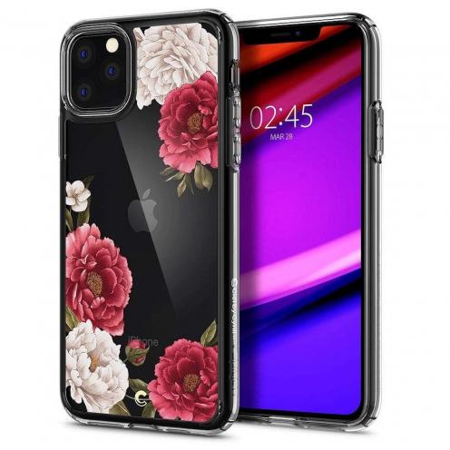 Coque SPIGEN Ciel pour Iphone 11 PRO Max ( 6.5 ) rouge floral