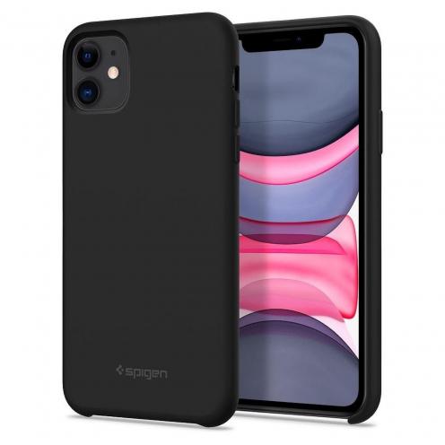 Coque SPIGEN Silicone Fit Iphone 11 ( 6.1 ) Noir