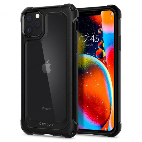 Coque SPIGEN Gauntlet Iphone 11 PRO Max carbon Noir