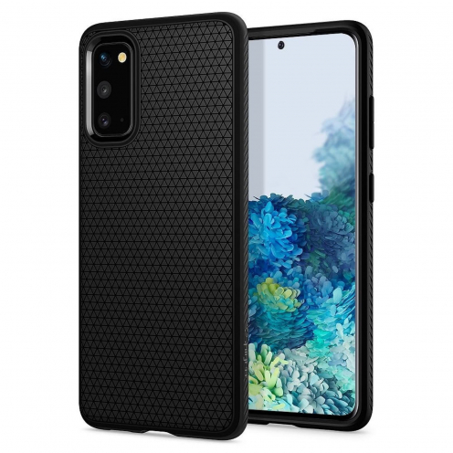 Coque Spigen® Liquid Air pour Samsung S20 Noir Mat