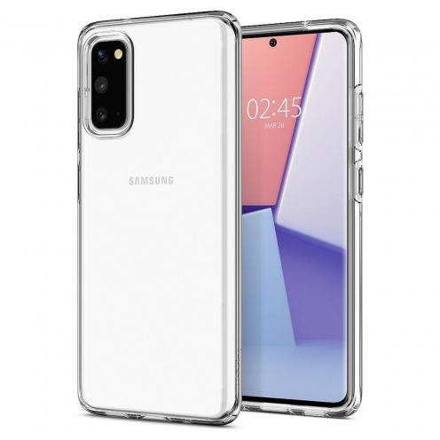 Coque Spigen® Liquid Crystal pour Samsung S20 Transparent