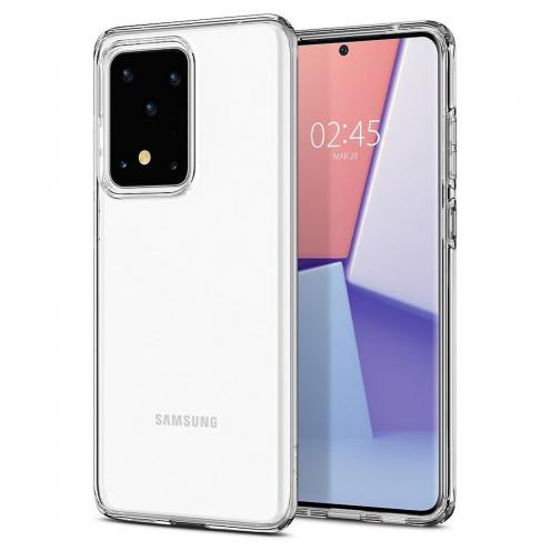 Coque Spigen® Liquid Crystal pour Samsung S20 ULTRA Transparent