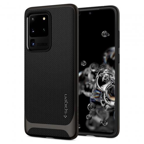 Coque Spigen® Neo Hybrid pour Samsung S20 ULTRA gunmetal