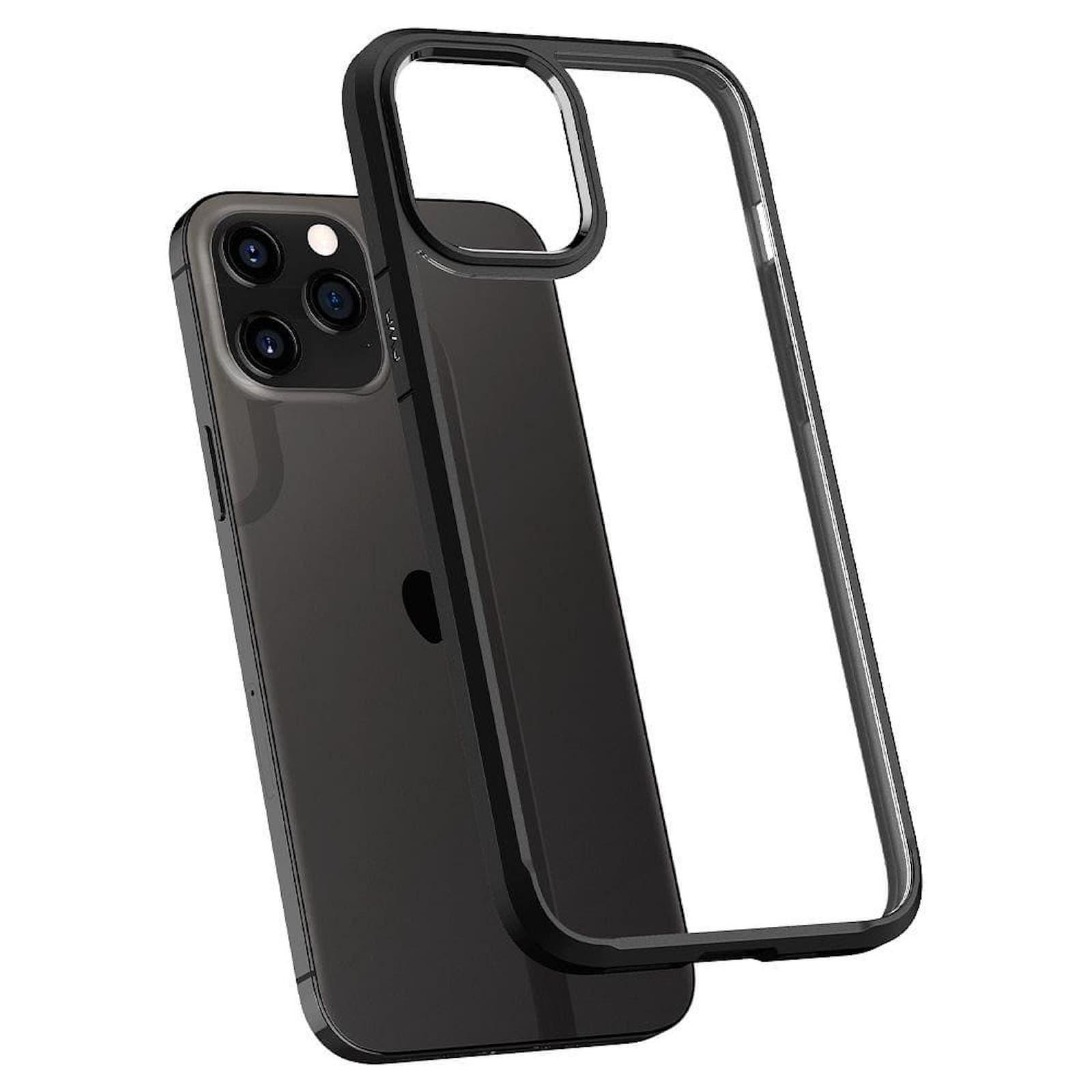 Coque Spigen© Ultra Hybrid pour iPhone 12 PRO MAX matte Noir