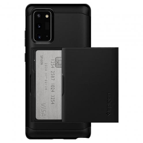 Coque Spigen© Slim Armor CS pour Samsung NOTE 20 Noir