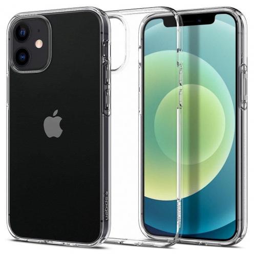 Coque Spigen© Liquid Crystal pour iPhone 12 MINI Transparent