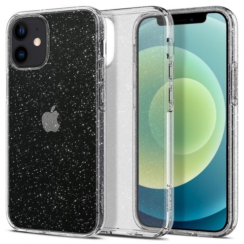 Coque Spigen© Liquid Crystal pour iPhone 12 MINI glitter Transparent
