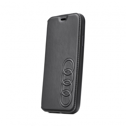 Etui Folio AUDI® Cuir AU-TPUFCIP8-TT/D1-BK iPhone 8 Noir