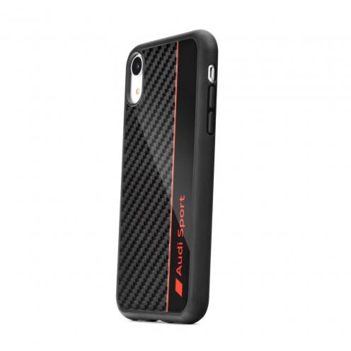 Coque AUDI® Fibre Carbon AUS-TPUPCIPXSM-R8/D1-BK iPhone Xs Max Noir