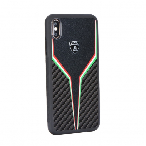 Coque Originale Lamborghini SC D2 LB-TPUPCIPX-SC/D2-BK iPhone X/Xs Noir