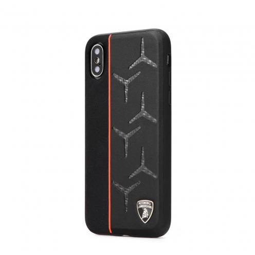 Original Leather Coque Lamborghini AVENTADOR D12 LB-TPUPCIPXR-AV/D12-OE iPhone Xr Noir