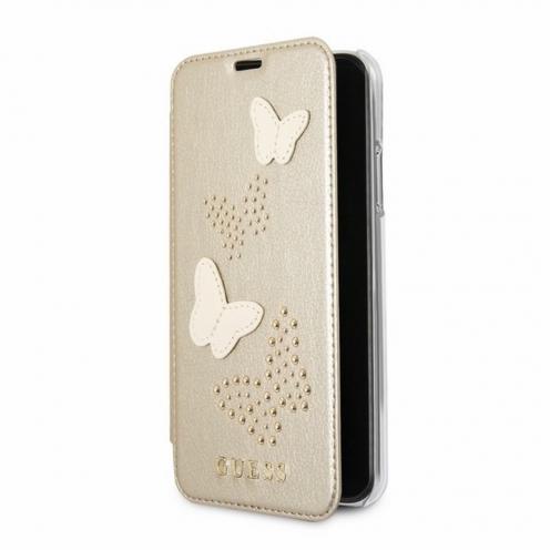 Etui Folio Book GUESS® GUFLBKPXPBUBE iPhone X beige