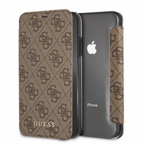 Etui Folio Book GUESS® GUFLBKXGF4GBR iPhone X Marron