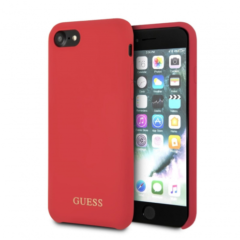 Coque GUESS® GUHCI8LSGLRE iPhone 7 rouge