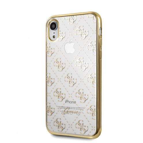 Coque GUESS® GUHCI61TR4GG iPhone XR Or - transparent