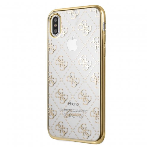 Coque GUESS® GUHCI65TR4GG iPhone XS Max Or - transparent