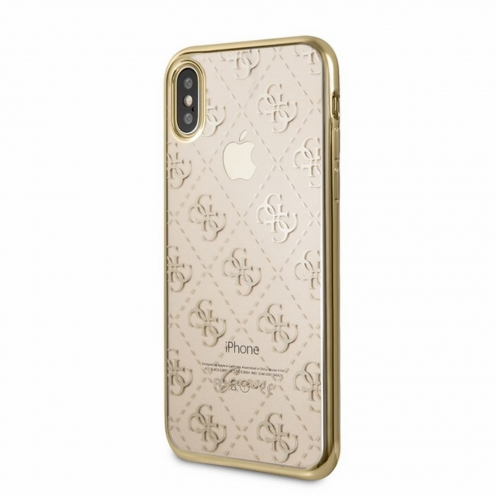 Coque GUESS® GUHCPXTR4GG iPhone X/Xs Or - transparent