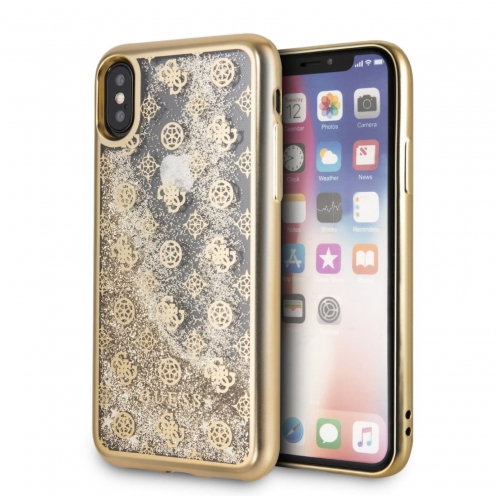 Coque GUESS® GUHCPXPEOLGGO iPhone X/Xs Or