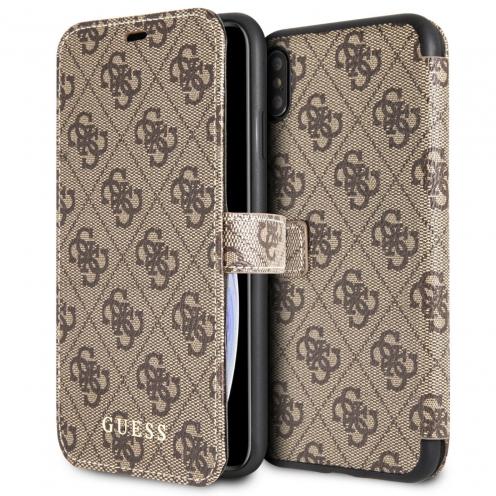 Etui Folio Guess® GUFLBKI654GB iPhone XS Max Marron