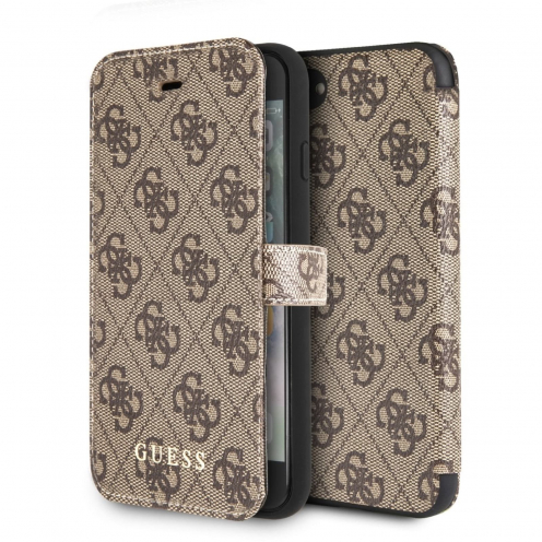 Etui Folio Guess® GUFLBKI84GB iPhone 7 Marron