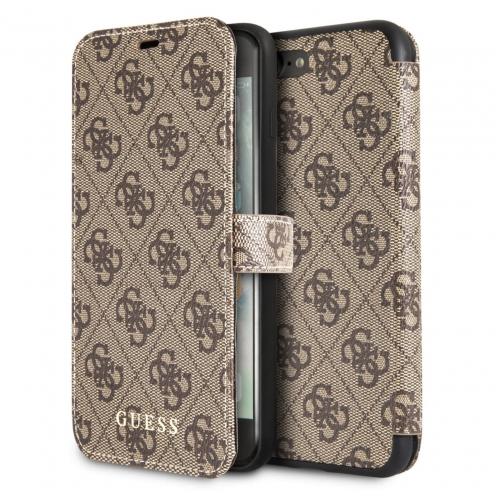 Etui Folio Guess® GUFLBKI8L4GB iPhone 7/8 Plus Marron