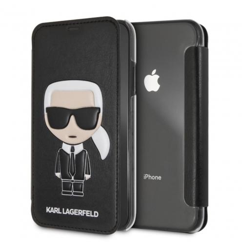 Coque Karl Lagerfeld® KLFLBKI61IKPUBK iPhone XR Noir