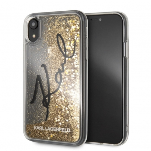 Coque Karl Lagerfeld® KLHCI61TRKSIGGO iPhone XR Or