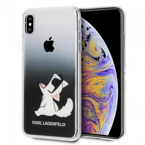 Coque Karl Lagerfeld® KLHCI65CFNRCBK iPhone XS Max transparent
