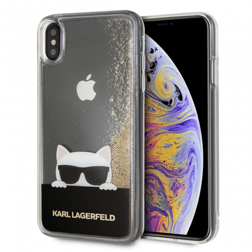 Coque Karl Lagerfeld® KLHCI65CHPEEGO iPhone XS Max Liquid Or