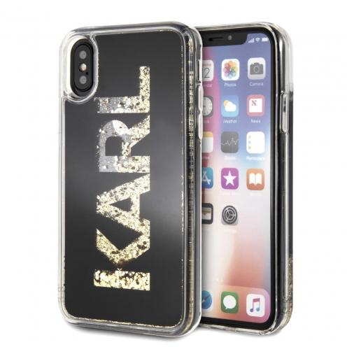 Coque Karl Lagerfeld® KLHCPXKAGBK iPhone X Noir